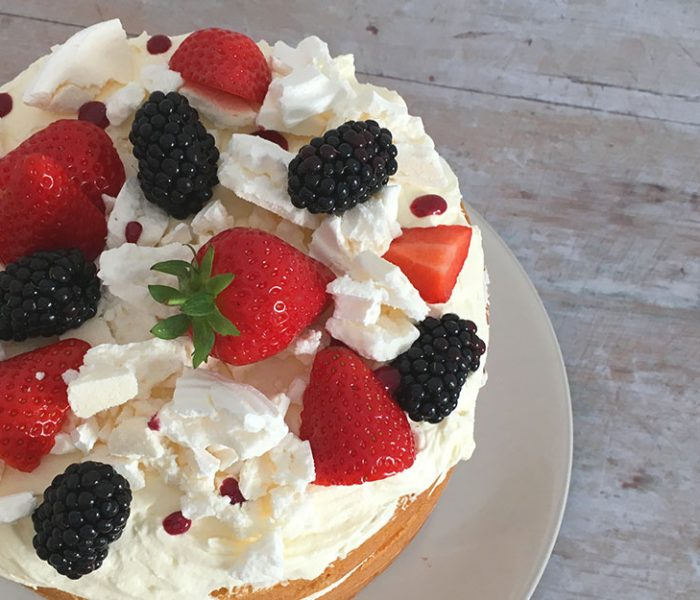 Gluten Free Eton Mess Sponge Cake