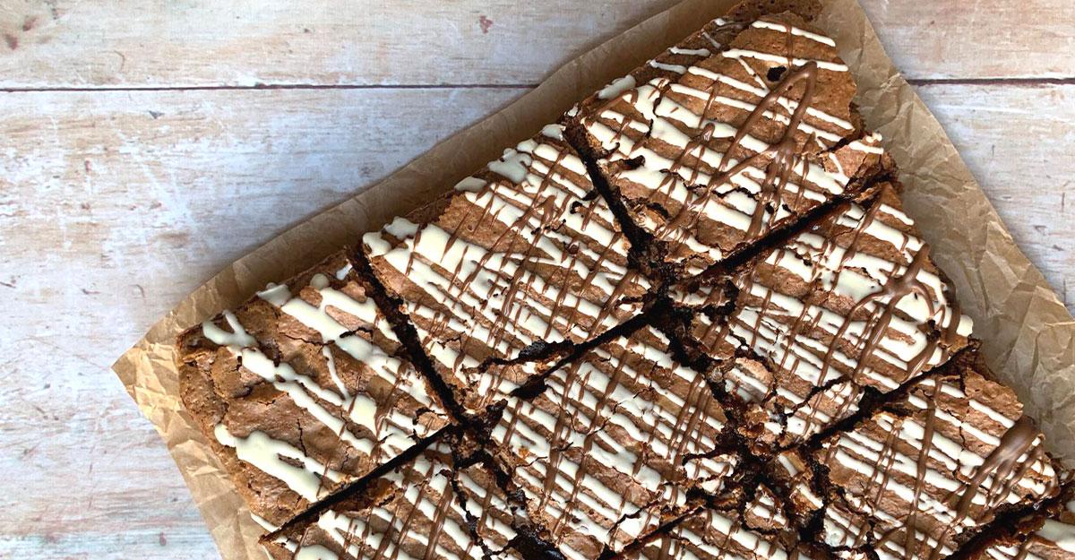 Gluten Free White Chocolate & Hazelnut Brownies